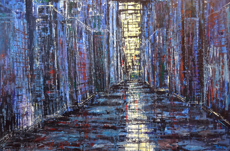 Acrylic painting Metropolis No. 2  by David Tycho
