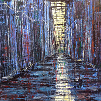 Acrylic painting Metropolis #2  by David Tycho