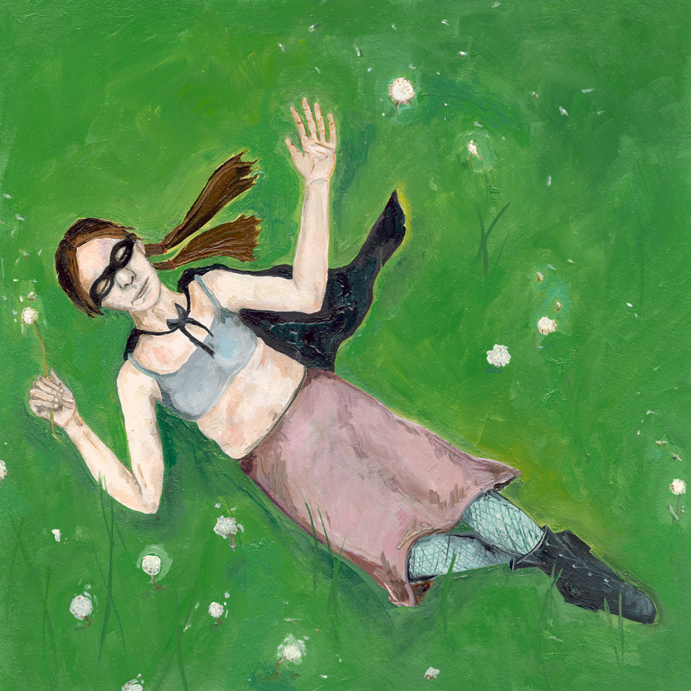 Oil painting A Girl Dreaming by Katherine Bennett