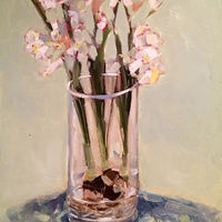 Oil painting Paperwhites by Sarah Trundle