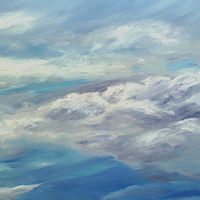 Oil painting  Cloudscape by Laurie Cochrane