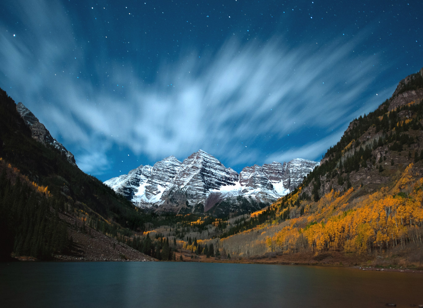 Fresh Snow On Maroon Bells by Dawn Reilly