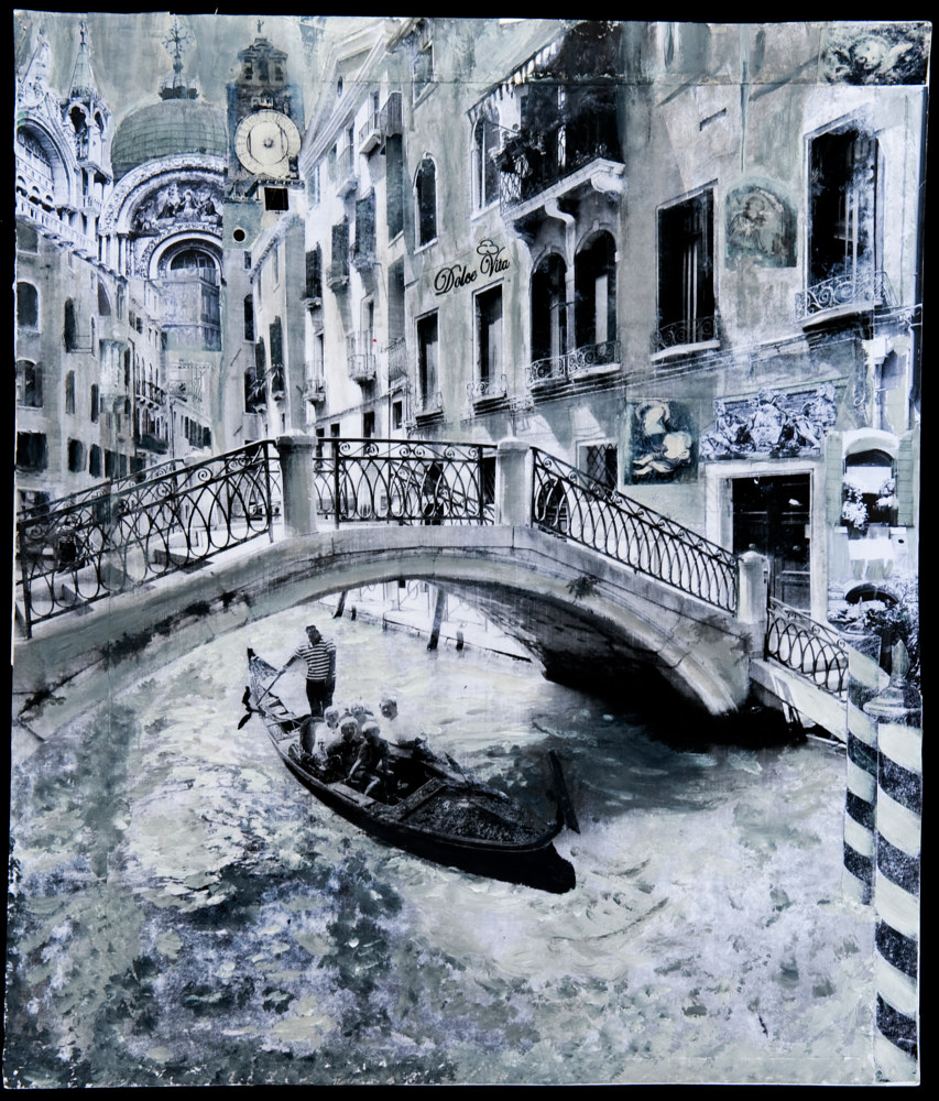 Acrylic painting Venice Canal I by Dawn Reilly