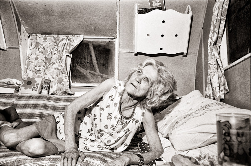Woman who Lived Alone in Camper Trailer, Apple Grove, West VA, 1976-(2) by Jim Holbrook