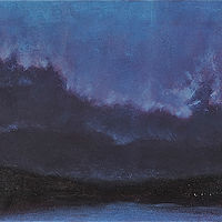 Oil painting Potomac storm by Scott Ivey