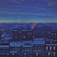 Oil painting Kalorama blue by Scott Ivey