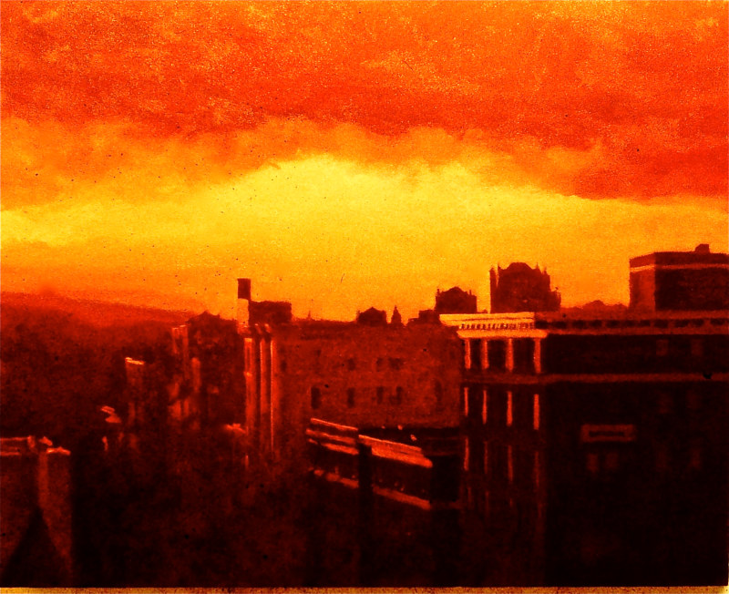 Oil painting Kalorama red by Scott Ivey