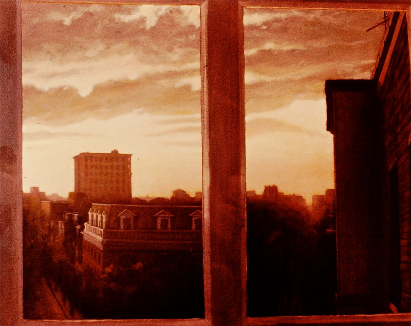 Oil painting the Cairo by Scott Ivey