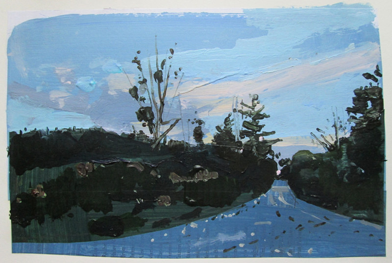 Acrylic painting Blue Road by Harry Stooshinoff