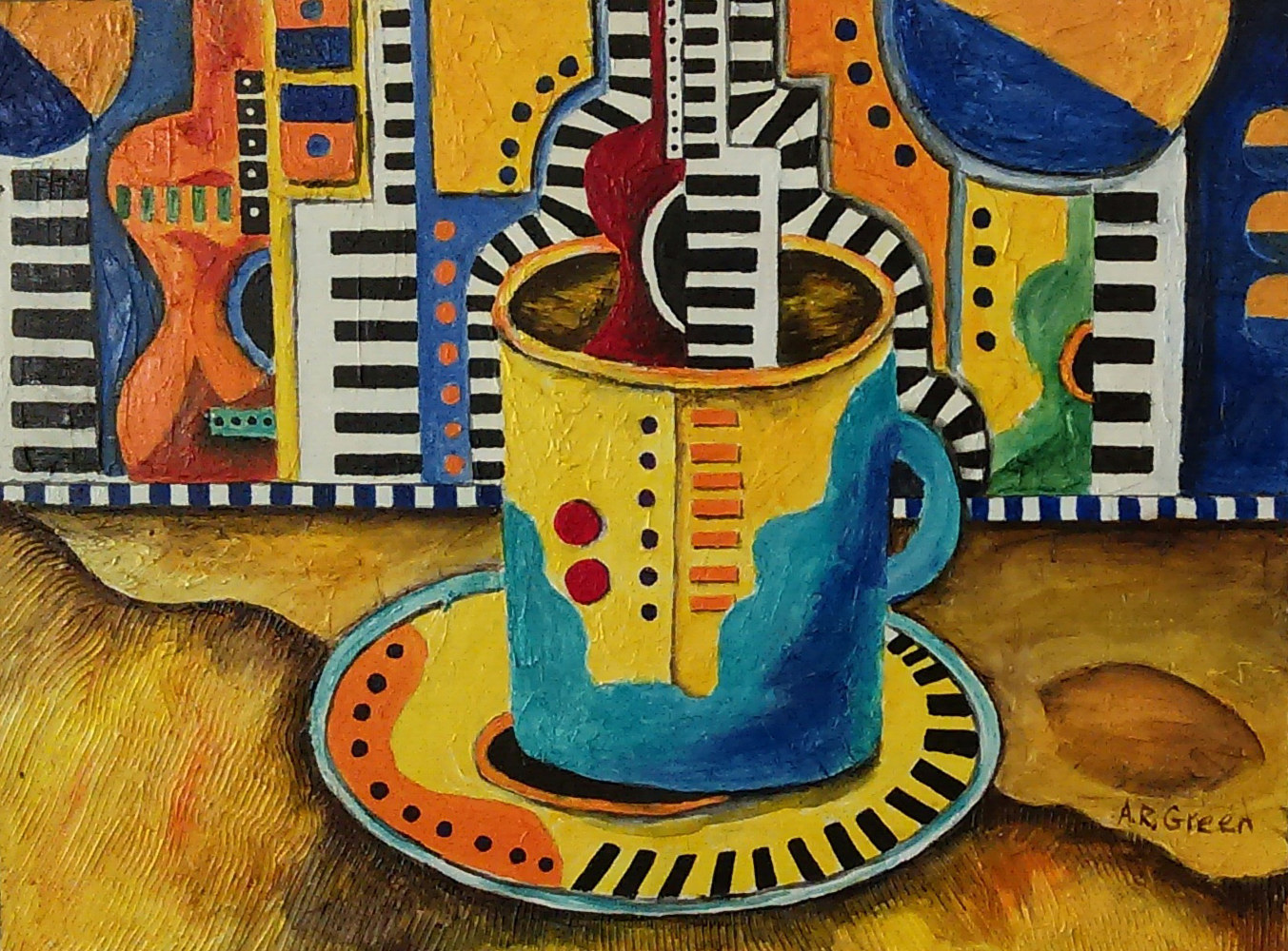 Acrylic painting A Taste of Jazz III by Angela  Green