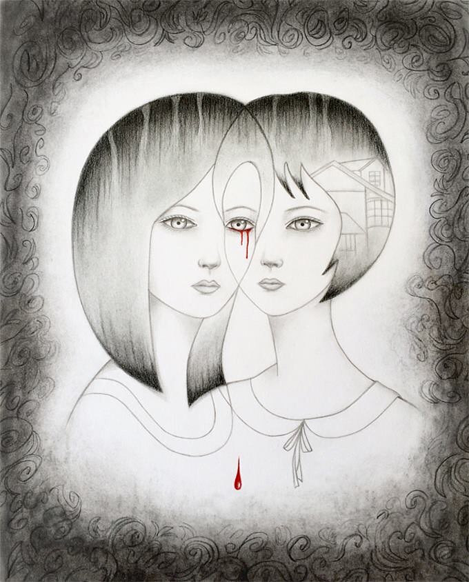 Drawing A Tale of Two Sisters by Carolina Seth