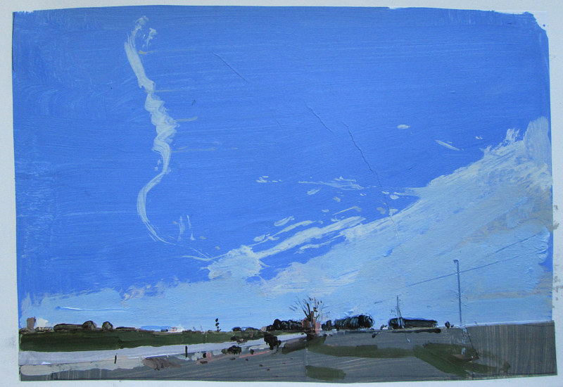 Acrylic painting Highway Sky by Harry Stooshinoff