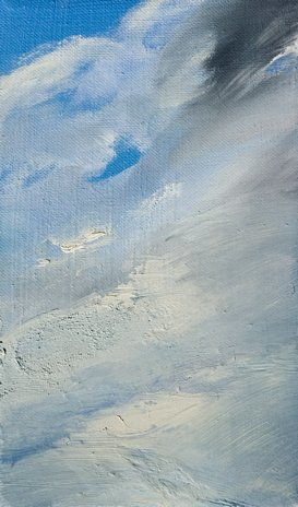 Oil painting On Cloud Nine by Laurie Cochrane