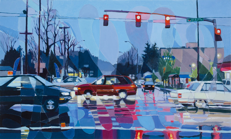 Oil painting SE Powell & 82nd by Shawn Demarest