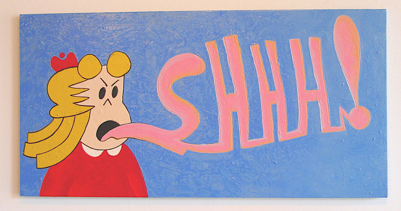 Acrylic painting SHHH! by David Faulk