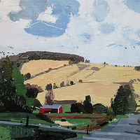 Acrylic painting Garden Hill, Indian Summer by Harry Stooshinoff