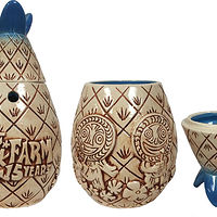 Poko Ono Tiki Farm Anniversary Mug and Shotglass by Kenneth M Ruzic