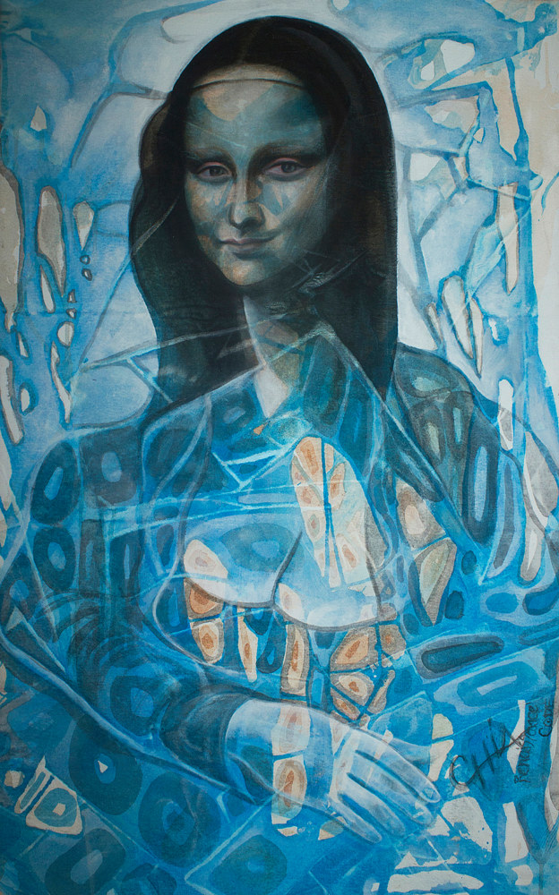 Photography Blue Monalisa 16.5' X 12' Limited Edition Reproduction by Chía Ortegón