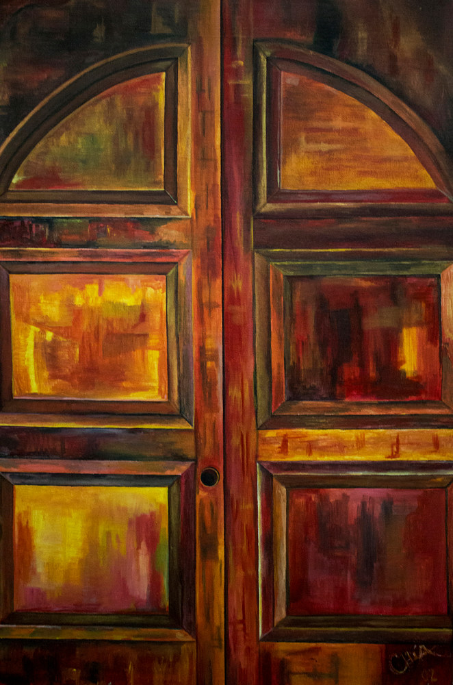 Door without Lock 16.5' X 12' Limited Edition Reproduction by Chía Ortegón