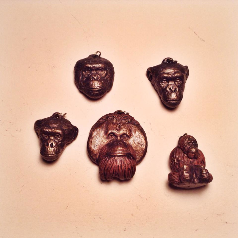 Center for Great Apes five pendant set NEW bronze finish by Jason  Shanaman