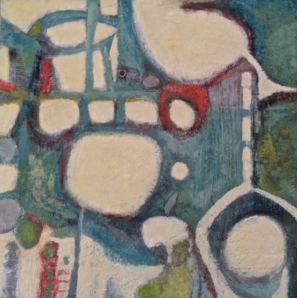Oil painting Bends & Bridges II  by Eloise Shelton-mayo