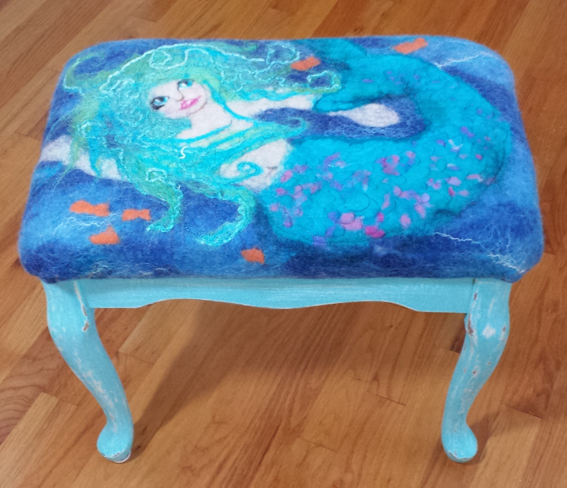 Mermaid bench by Valerie Johnson