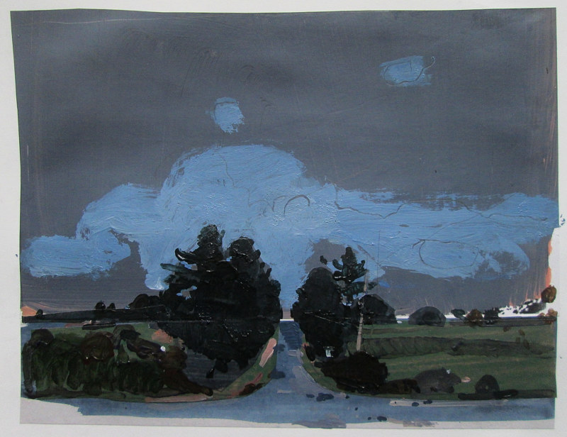 Acrylic painting Nocturne, Lost Dog Hill by Harry Stooshinoff