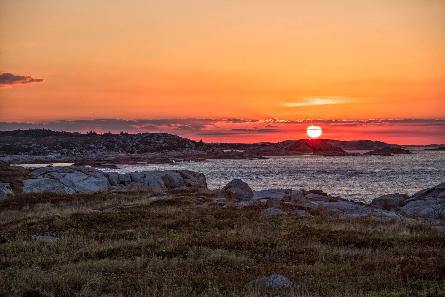 Sunrise at Peggys Cove by William Kent