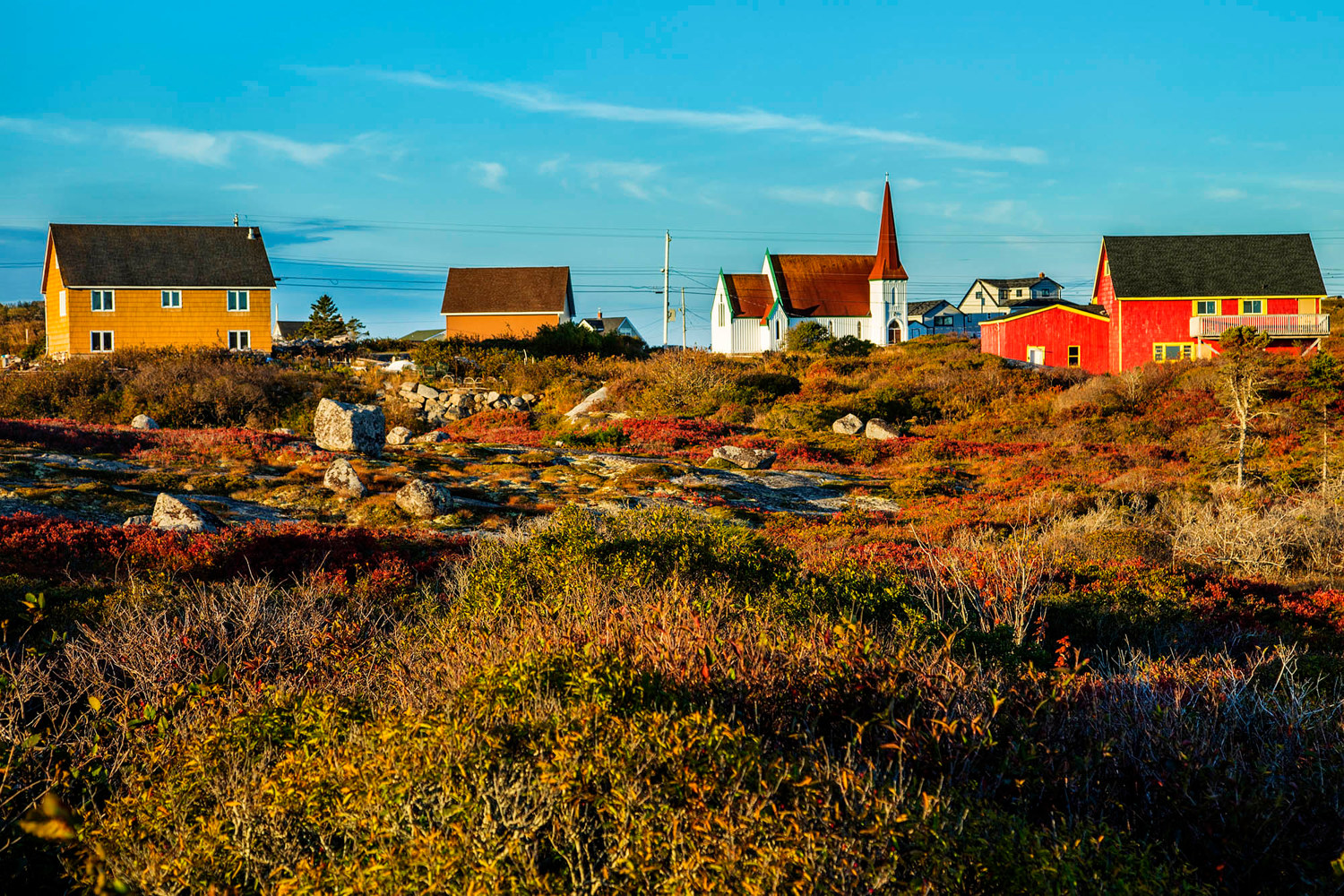 Backside of Peggys Cove by William Kent