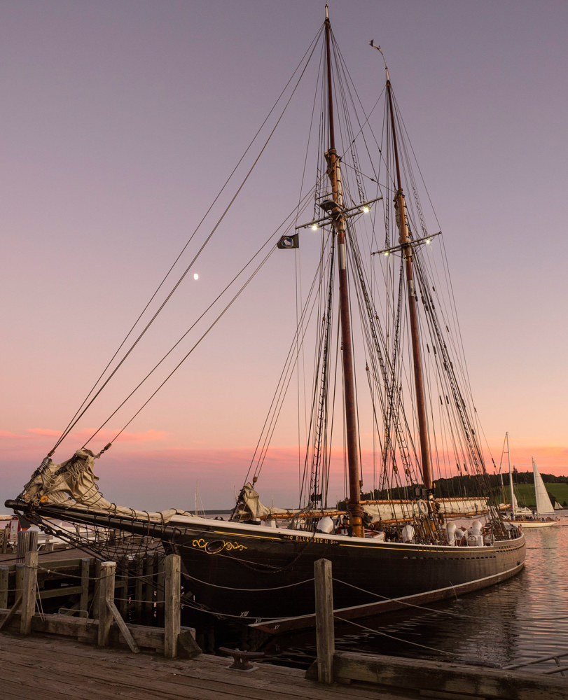 Bluenose II at Sunset by William Kent