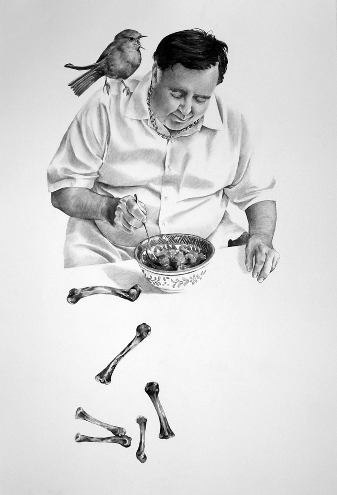 Drawing My Father He Ate Me by Ellen Cornett