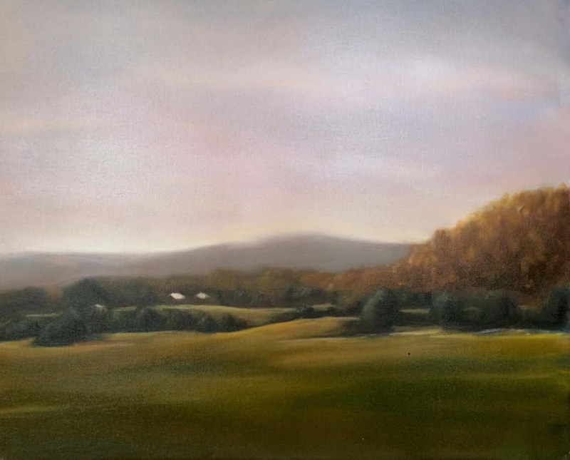 Oil painting From Free Union Road by Sarah Trundle