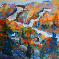 Early October Showfall Acrylic 36x36 2015 by Brian  Buckrell