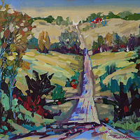 Rural Roads Acrylic 2015 by Brian  Buckrell