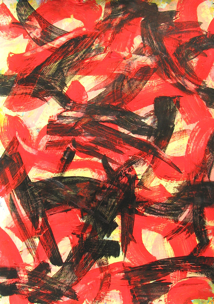 Slash and Burn:Acrylic on Paper:2014:23.6x16.8in:59.0x42.0cm by Gary Jenkins