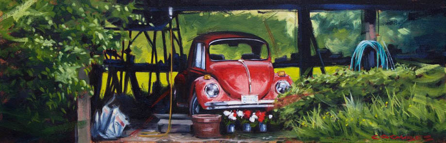 Oil painting Summer Bug II by Bryan  Coombes