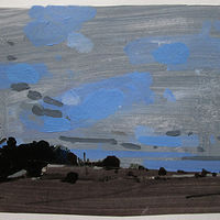 Acrylic painting Lost Dog Hill, November 29 by Harry Stooshinoff