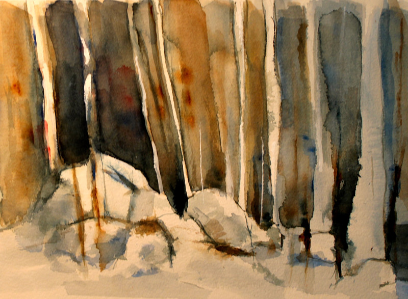 Watercolor Winter Woodlands by Steve Latimer