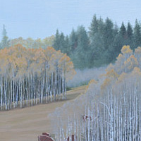 Oil painting Cariboo Serenity $1600.00 by Vicki Beamish