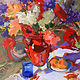 Poppies in a Red Pot by Susette Gertsch