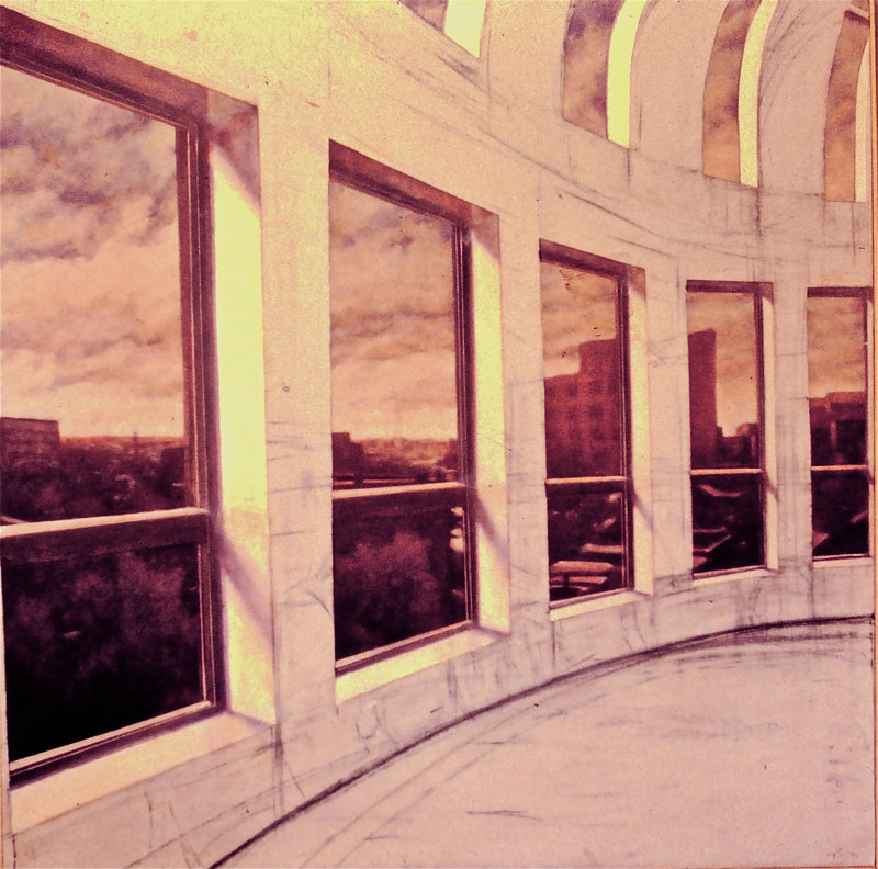 Oil painting boardroom view  by Scott Ivey
