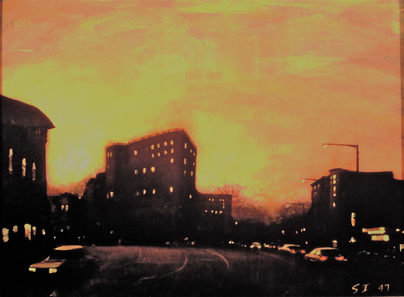 Oil painting Calvert Street by Scott Ivey