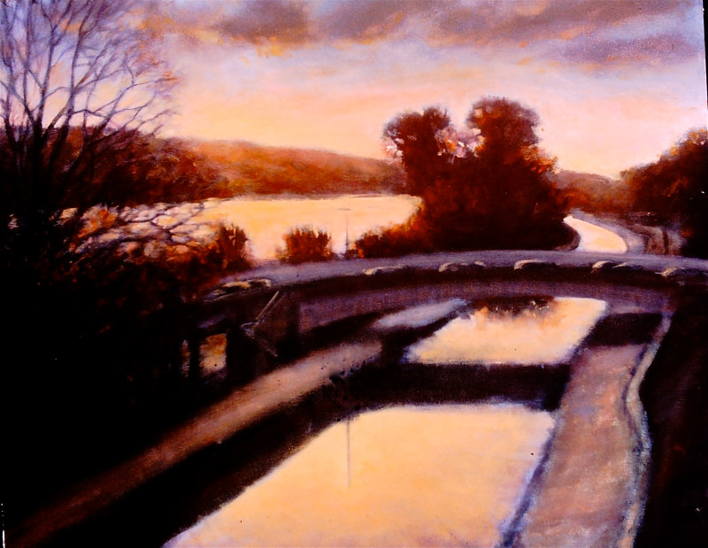 Oil painting Canal Road #2 by Scott Ivey