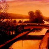 Oil painting Canal Road  by Scott Ivey