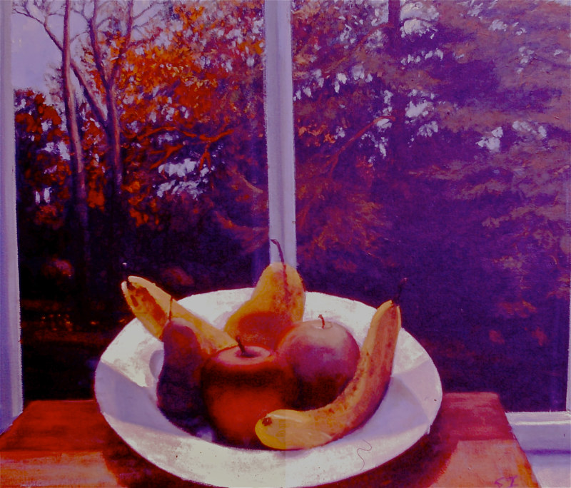 Oil painting fruitscape by Scott Ivey
