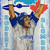Acrylic painting Alomar 92' by Carly Jaye Smith