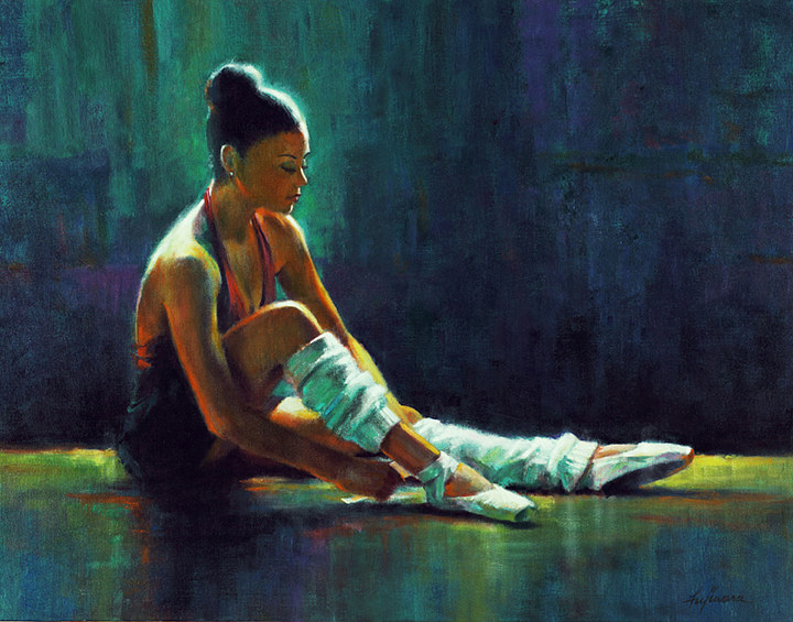 Oil painting Warm Up 2  by Kim Fujiwara