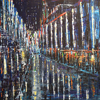 Acrylic painting Blue Nocturne by David Tycho