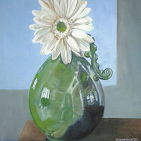Oil painting Flower Study by Timothy Innamorato
