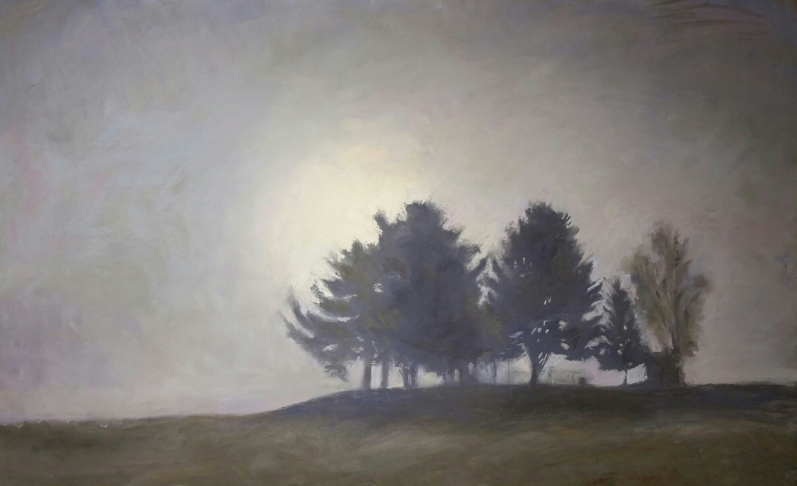 Painting White Pines in the Fog   by Michael  Gaudreau